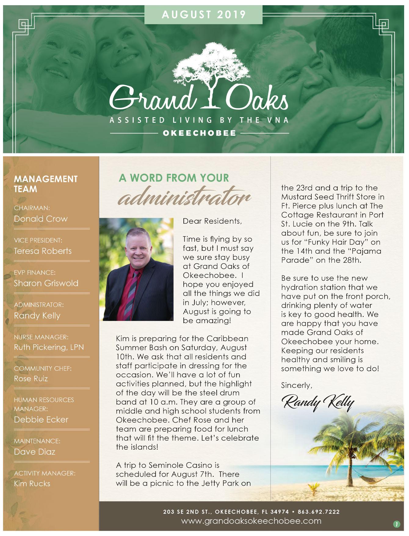Grand Oaks of Okeechobee Newsletter